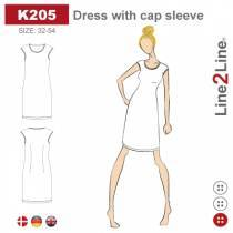 Dress with cap sleeve