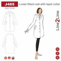 Loose fitted coat with lapel collar