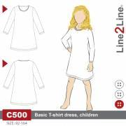 Basic T-shirt dress, kids