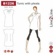 Tunic with pleats