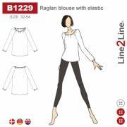 Raglan blouse with elastic