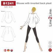Blouse with inverted back pleat