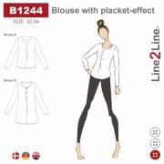 Blouse with placket-effect