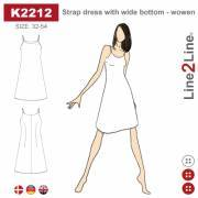 Strap dress with wide bottom, woven