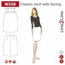 Classic skirt with facing